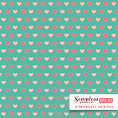 St. Valentine hearts. Abstract vector background — Stockvector