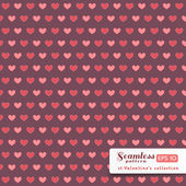St. Valentine hearts. Abstract vector background — Stock Vector