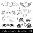 Set of vector valentines day elements — Stock Vector