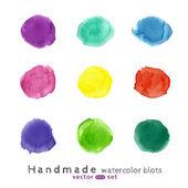Watercolor splash set. — Stock Vector