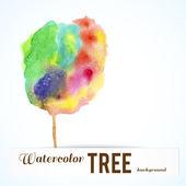 акварель разноцветных дерево. — Cтоковый вектор