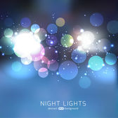 Night lights abstract  background — Stock Vector
