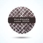 Handmade marker stripes. — 图库矢量图片