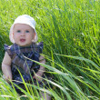 Child on grass — Stock Photo