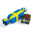 Candy flag sweden — Stock Photo