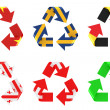 Recycle flag — Stock Photo