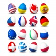 Easter egg with flag - Image vectorielle
