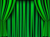 Green curtain — Stock Vector
