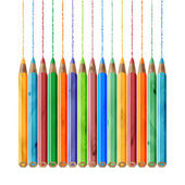 Color pencil set — Stock Vector