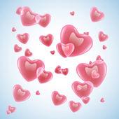 Velentines hearts — Stock Vector