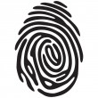 Finger print light — Stock Vector