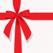 Red gift bow — Vector de stock