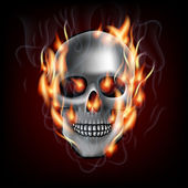 Skull on fire — Stock Vector