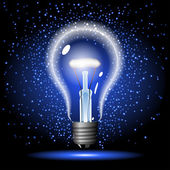 Neon lighbulb — Stock Vector