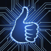 Like sign electronics — Stock Vector