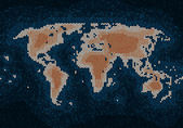Knitted world map — Stockvektor