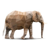 Polygonal elephant — Stock Vector