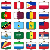 Suitcase with flag — Vector de stock