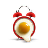 Red alarm clock egg — Stock Vector