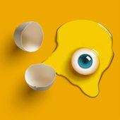Egg eye — Stock Vector