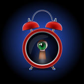 Orologio con occhio keyhole — Vettoriale Stock