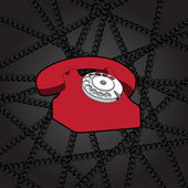 Classic wire telephone — Stock Vector