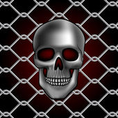 Skull fence — Stock Vector