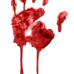 Bloody handprint — Stock Photo #8124881