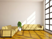 Sofas and plant — Stock Photo
