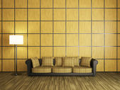 Sofa and a lamp — Stock Photo