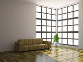 Big sofa and plant — Stock Photo