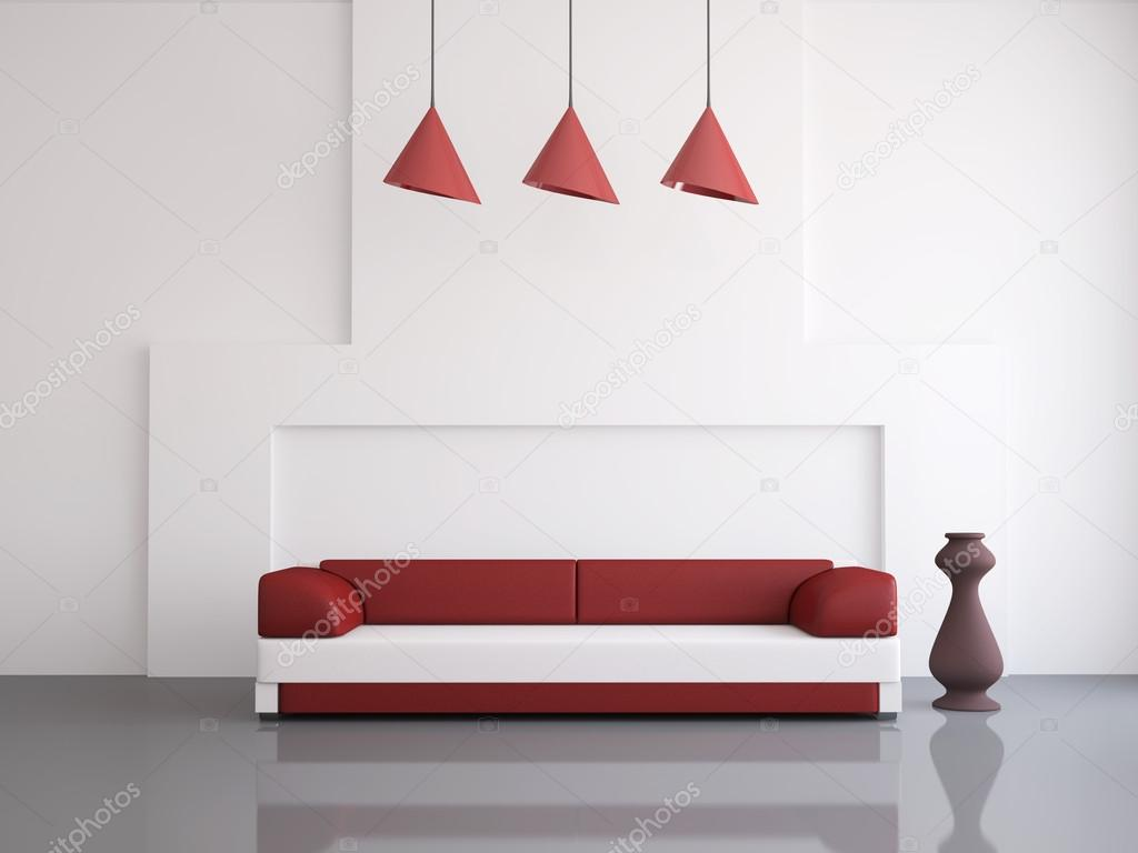 Interior of a room with an leather sofa — Stock Photo #12262487