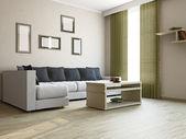 Big sofa in the livingroom — Stock Photo