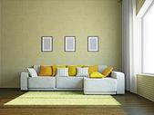 Livingroom with furniture — Stock Photo