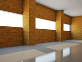 Empty hall with window — Stock Photo
