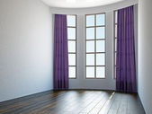 Empty room with window — Stock Photo