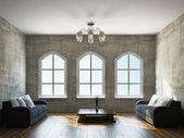 Obývací pokoj s nábytkem — Stock fotografie