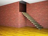 空房间,楼梯 — 图库照片