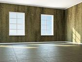 пустая комната с окном — Стоковое фото