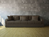 Room with sofa — Stock Photo