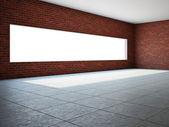 Salle vide avec fenêtre — Photo