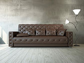 Livingroom with sofa — Stock fotografie