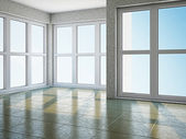 Empty room with window — Stok fotoğraf