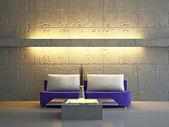 Pokój dzienny z sofą — Zdjęcie stockowe