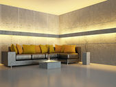 Livingroom with sofa — Foto de Stock
