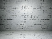 Concrete floor and wall — 图库照片