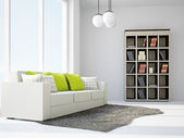 Livingroom with sofas — Stock Photo