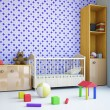 Nursery with a bed - Stock Photo