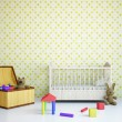 Nursery with a bed — Stock Photo #23160512