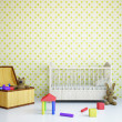 Nursery with a bed  — Stock Photo